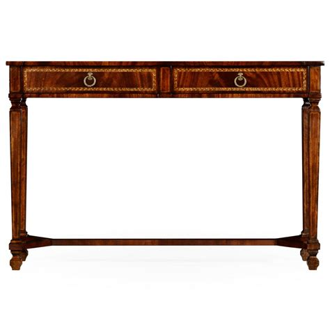 Mahogany Console Table Mahogany Console Table With 2 Drawers Swanky Interiors