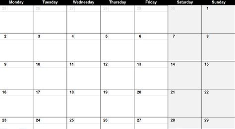 monthly calendar template 2011 may