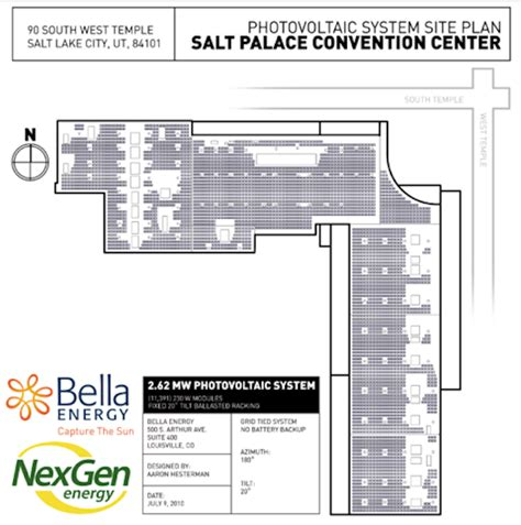 salt palace convention center floor plan salt lake city gets country s biggest rooftop solar