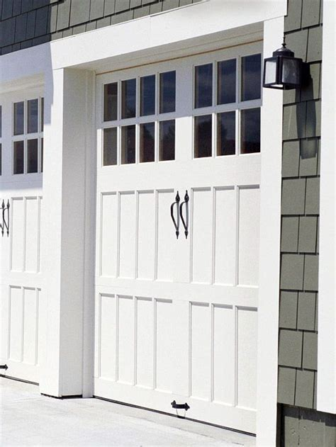Inexpensive Garage Doors Outside Garage Doors Add Inexpensive Hardware To Give Carriage House Style Pinpoint