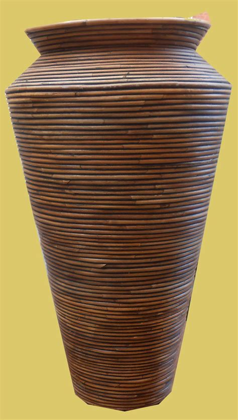 Large Wicker Vases by Uhuru Furniture Collectibles Large Wicker Vase Sold