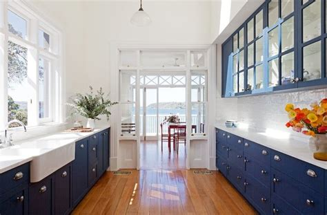 white blue kitchen blue base kitchen cabinets design ideas