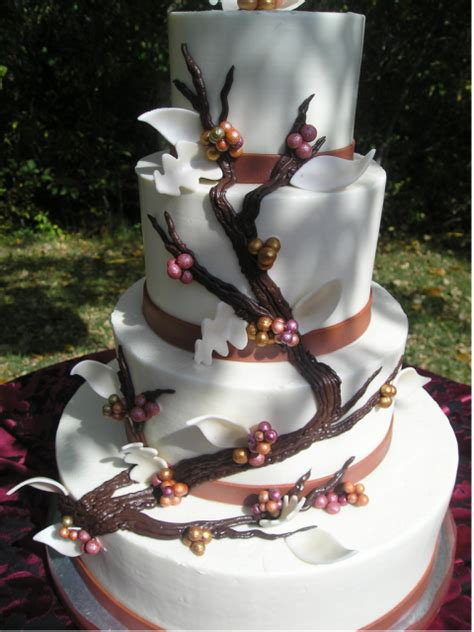 chic wedding cake with bloom tree theme png hi res 720p hd