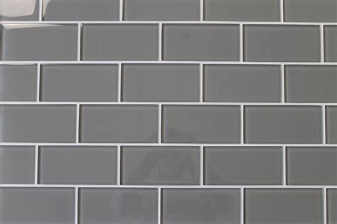 Discount Kitchen Backsplash Tile by Pebble Gray 3x6 Glass Subway Tiles Rocky Point Tile