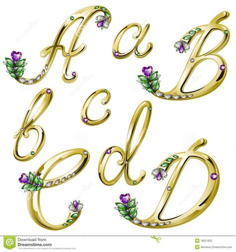 lettere particolari l alfabeto dell oro con le gemme segna a con lettere la b