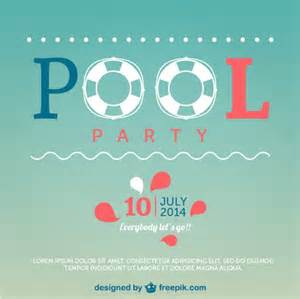 summer pool party poster vector free download