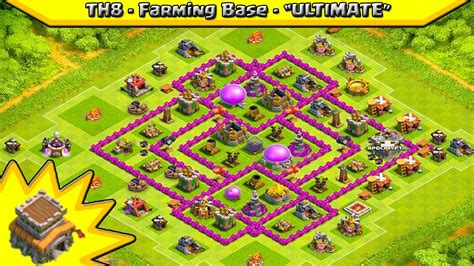 layout th8 farming clash of clans th8 farming base quot ultimate quot design best