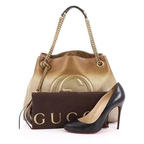 Simple Golden Chain Shoulder Bag Import 1 gucci soho shoulder bag chain leather medium at 1stdibs