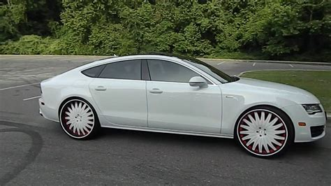 audi a7 white white on white audi a7 on 24 quot amani forged wheels at mlk