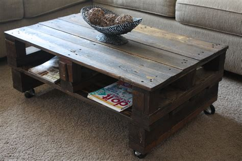 Pallet Wood Coffee Table Wilsons And Pugs Pallet Coffee Table