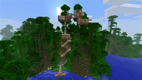 minecraft tree house baumhaus treehouse minecraft project