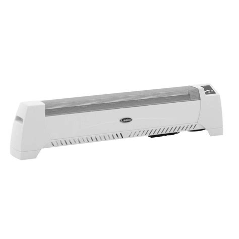 lasko silent room heater lasko 1500 watt low profile silent room heater with digital display white 5622 the home depot