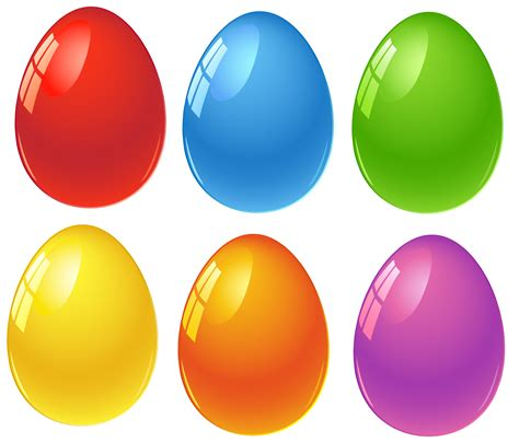 colored easter eggs colored easter eggs png clipart obr 193 zky velikonoce