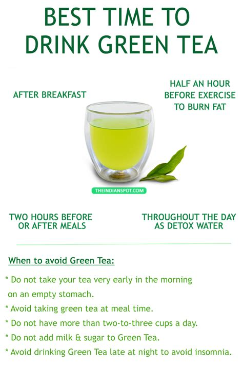 Msg Caffeine Detox Time by The Best Time To Drink Green Tea Theindianspot