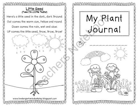 printable plant observation journal planting journal for kids