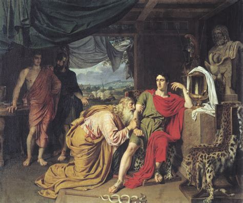 libro an odyssey a father ivanov alexander andreevich 1806 1858 priam asking achilles to return hector s body oil on