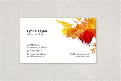 Free Business Card Templates Artwork by Artist Business Card Template Theveliger