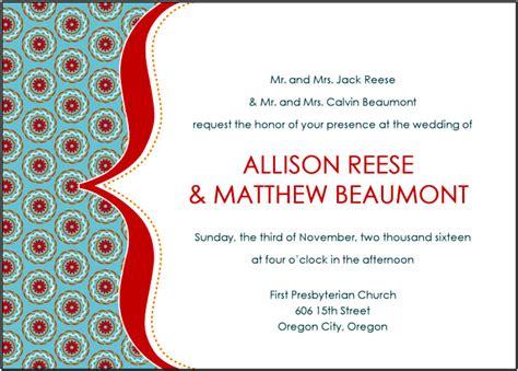 4 contoh surat undangan pernikahan dalam bahasa inggris