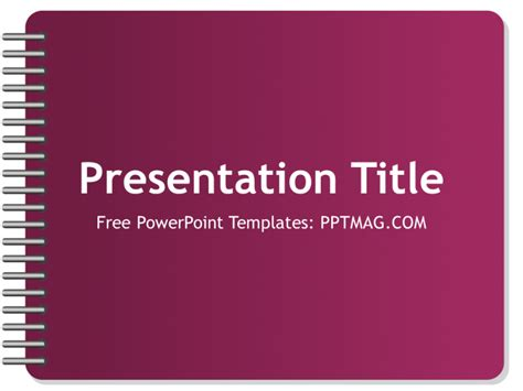 Free Notebook Powerpoint Template Pptmag Notebook Powerpoint Background