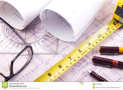 architect online house plan blueprint architect design stock photo