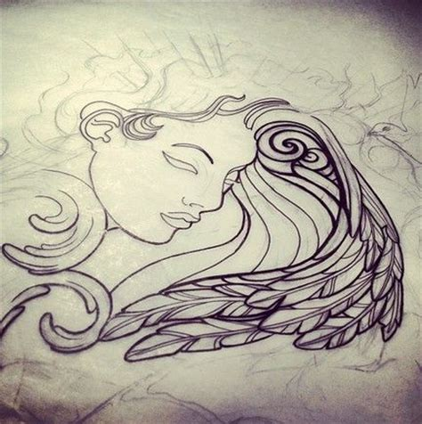 tattoo sketch angel angel tattoo sketch by india tattoo sketches pinterest