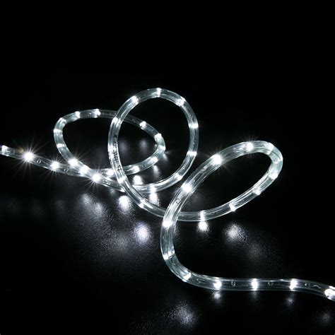 100 cool white led rope light home outdoor christmas
