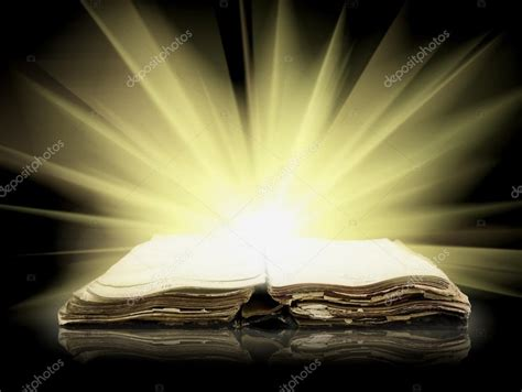 light in the bible bible book with of light stock photo