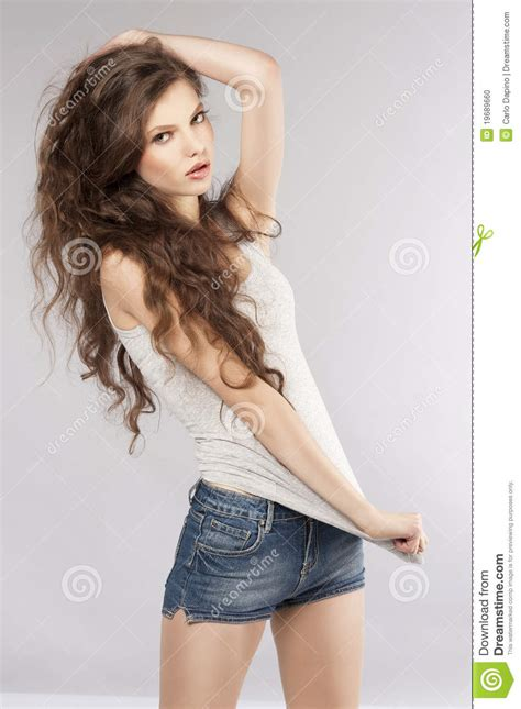 young girls fresh young girl i casual dress stock photo image 19689660
