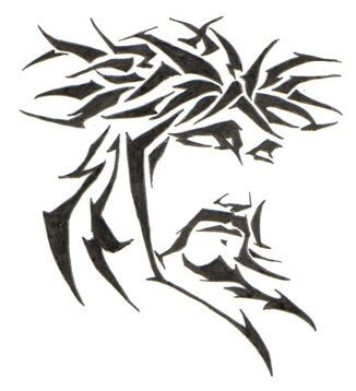 jesus tribal tattoos images jesus tribal tattoos