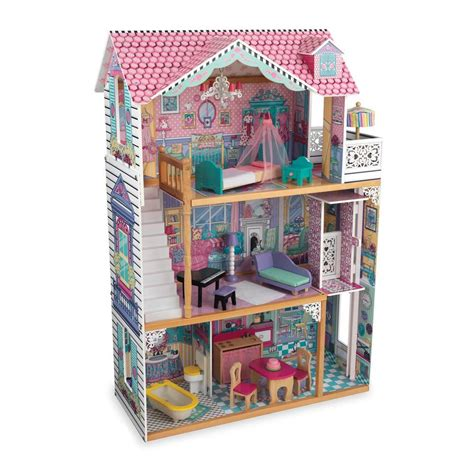 a doll house play kidkraft annabelle dollhouse play set 65079 the home depot