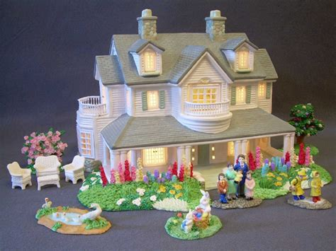 christmas village lighted ceramic house accessories