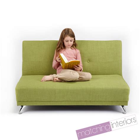 kids bed settee lime green clic clac children s kids 2 seater settee