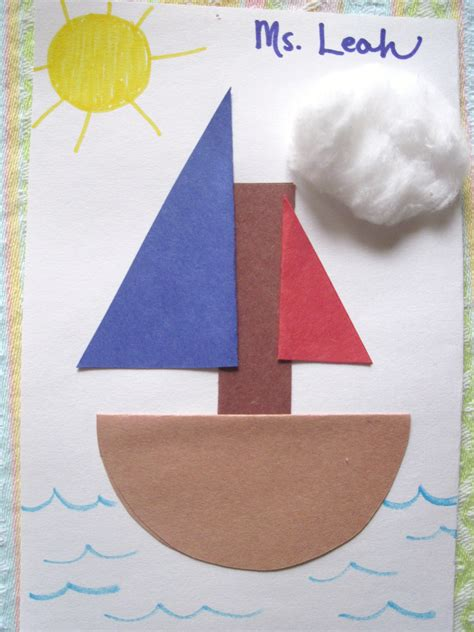 boat shapes craft boats sunflower storytime