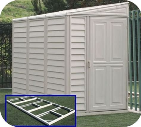 Plastic Flooring For Sheds by Sidemate 4x8 Vinyl Shed W Floor Kit