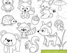 Items Similar To Coloring Book Forest Animals Digital Print  sketch template