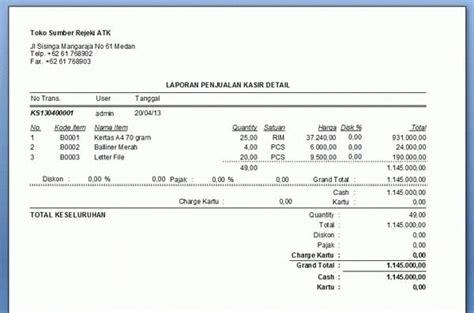 Software Aplikasi Nota Surat Jalan Toko Alat Tulis Toko 1d Jual Software Toko Dan Kasir V6 Version