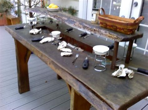 Oyster Table by Oyster Table Maybe We Can Build One Crab Boil