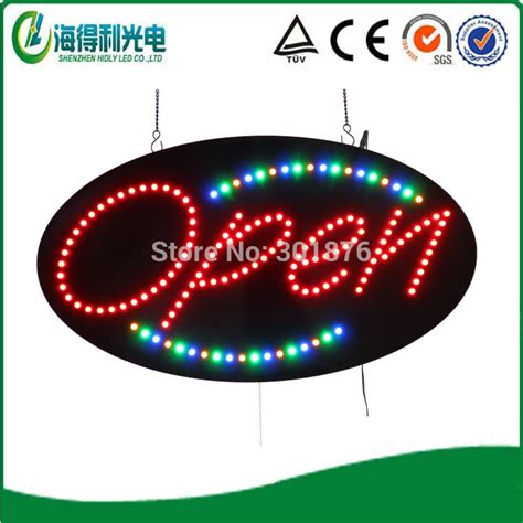 Sign Led Welcome Oval aliexpress buy wholesale animated led sign low price oval led 5mm acrylic open sign led