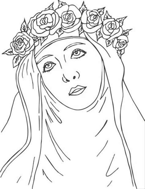 imagenes para colorear a santa rosa de lima frases e imagenes de santa rosa de lima para imprimir
