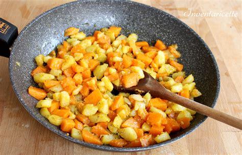 come cucinare patate in padella zucca e patate in padella inventaricette in cucina con