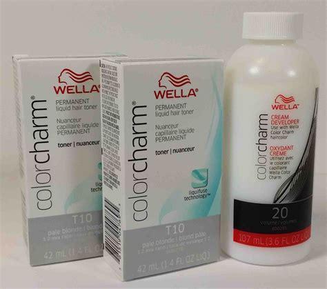 2pcs wella color charm permanent hair toner 1 4oz 1pc
