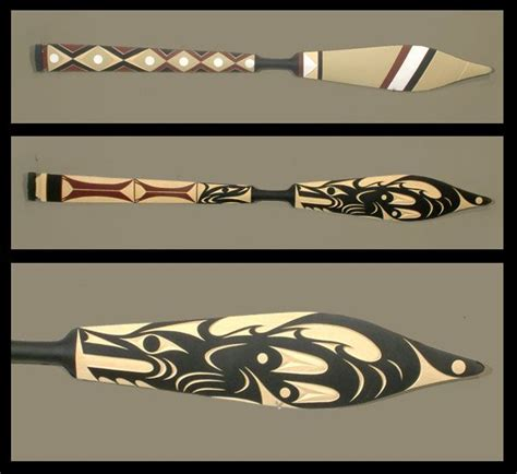 tribal pattern paddles 17 best images about coast salish and other native peoples