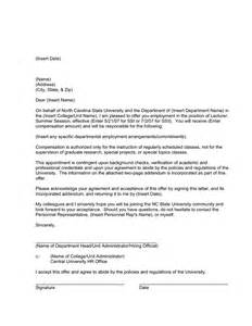 Request Letter Draft Format Draft Sle Appointment Letter 1 In Word And Pdf Formats