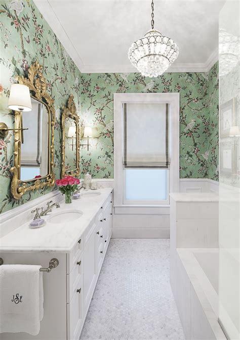 glam bath by nate berkus bath pinterest brunschwig fils kanchou wallpaper danby marble house