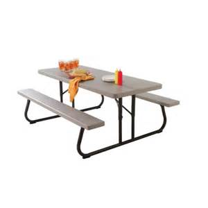 Lifetime Folding Picnic Table Lifetime 174 Folding Picnic Table Picnic Tables Ace Hardware