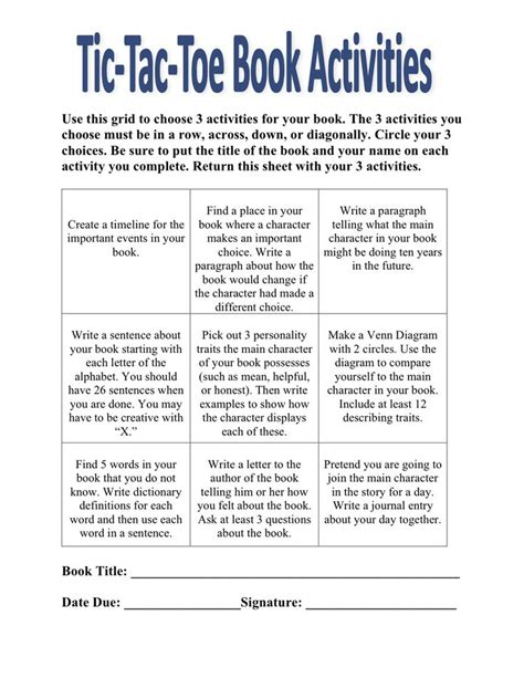 alternative book reports alternative idea to a book report