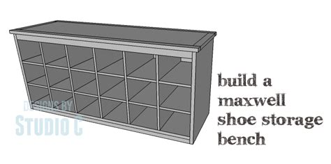 how to build a shoe bench diy plans to build a maxwell shoe storage bench