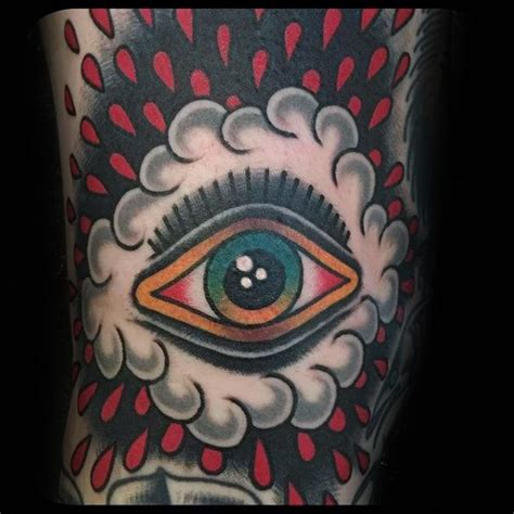50 traditional eye tattoo designs for men old ideas