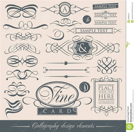 vector wedding design elements and calligraphic page decoration set of vintage calligraphic design elements and vector