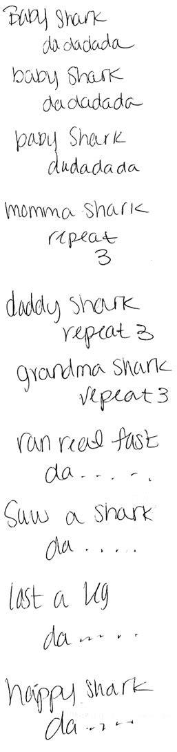baby shark original lyrics quotes